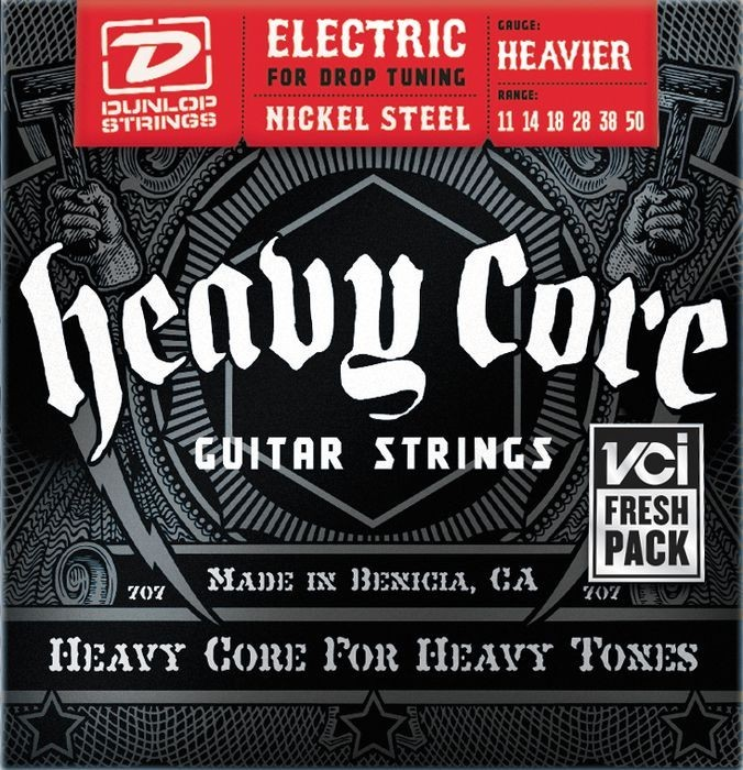 Dunlop DHCN1150 Heavy Core Electric Guitar Strings 11-50