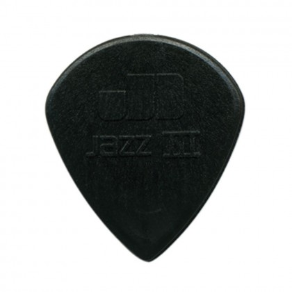 Dunlop Jazz III Plekter Sort 1.38mm 6-Pakning