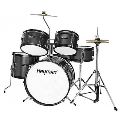 Trommesett Hayman Junior Series 5-piece drum kit (Sort)
