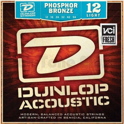 Dunlop DAP1254 Phosphore Bronze Acoustic Strings (.012-.054 - Light)