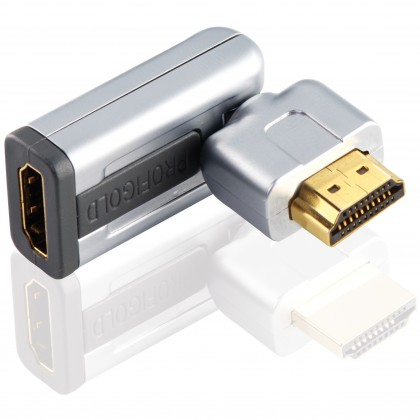 Profigold Roterbar HDMI®-adapter med Ethernet